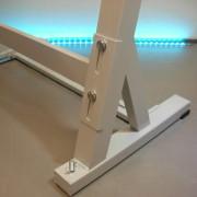 Gestell für Nähmaschinen mit stabilen Verbindungsteilen © NT-Michel